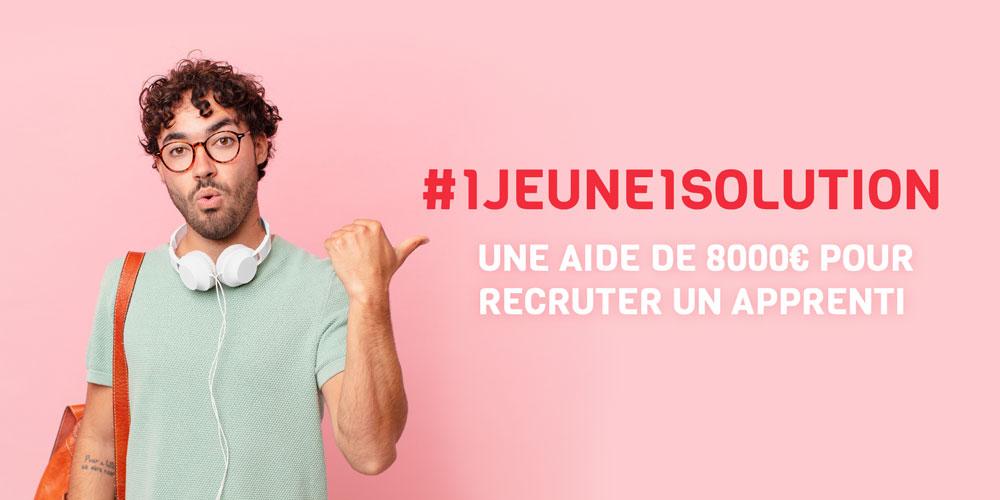 #1jeune1solution jusqu'à 8000€ pour recruter un apprenti